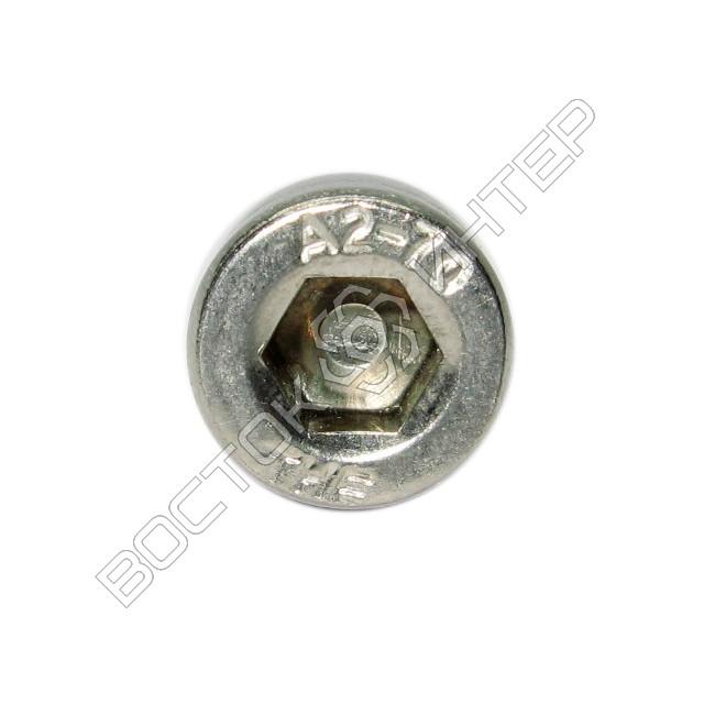 Винты из нержавеющей стали DIN 912 с внутренним шестигранником и цилиндрической головкой, фото 5