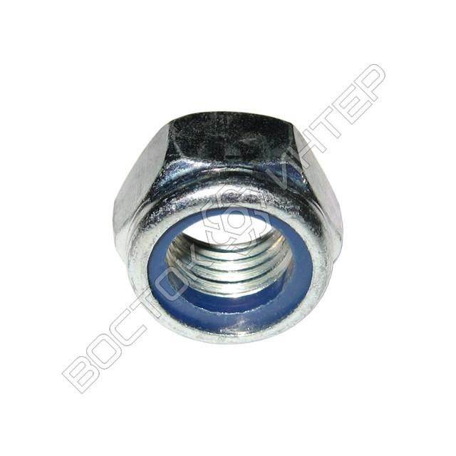 Гайка DIN 985 шестигранная низкая самоконтрящаяся с нейлоновым кольцом, фото 3