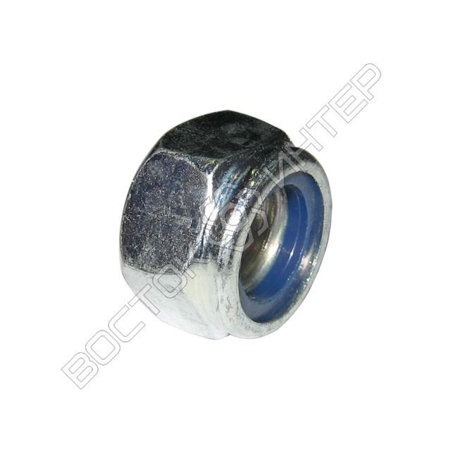 Гайка DIN 985 шестигранная низкая самоконтрящаяся с нейлоновым кольцом, фото 5