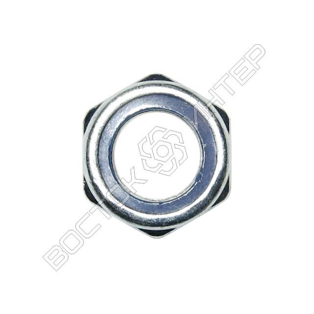 Гайка DIN 985 шестигранная низкая самоконтрящаяся с нейлоновым кольцом, фото 2