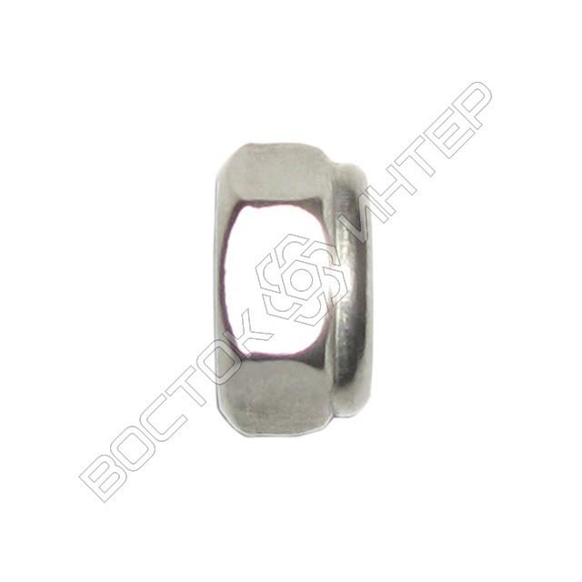Гайка нержавеющая DIN 985 шестигранная низкая самоконтрящаяся с нейлоновым кольцом, фото 3