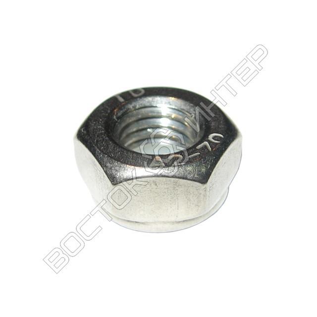 Гайка нержавеющая DIN 985 шестигранная низкая самоконтрящаяся с нейлоновым кольцом, фото 4