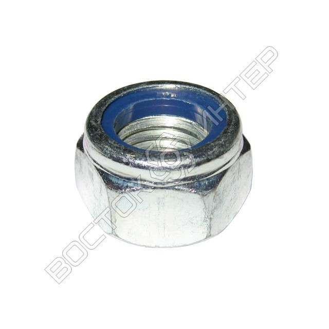 Гайка DIN 985 шестигранная низкая самоконтрящаяся с нейлоновым кольцом, фото 1