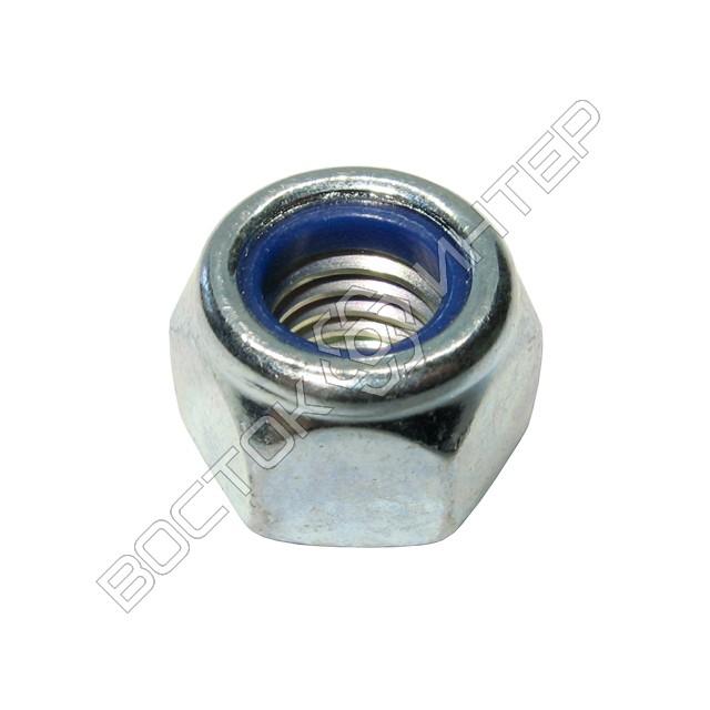 Гайка DIN 982 шестигранная самоконтрящаяся с нейлоновым кольцом, фото 1