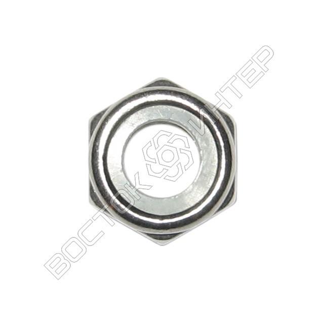 Гайка нержавеющая DIN 985 шестигранная низкая самоконтрящаяся с нейлоновым кольцом, фото 2