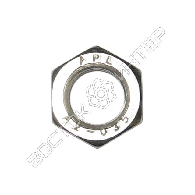 Гайка нержавеющая DIN 439 шестигранная низкая, фото 2